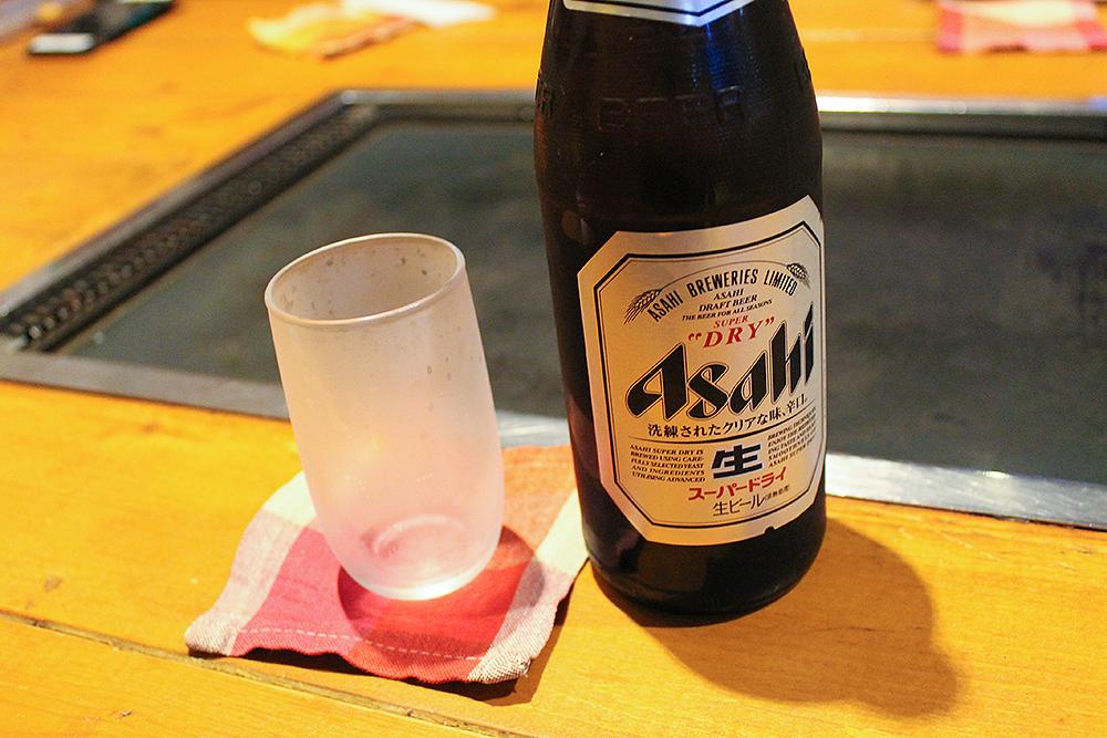 曳舟冷えたビール、アサヒスーパードライ