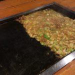もんじゃ焼きのせんべい(おこげ)の作り方
